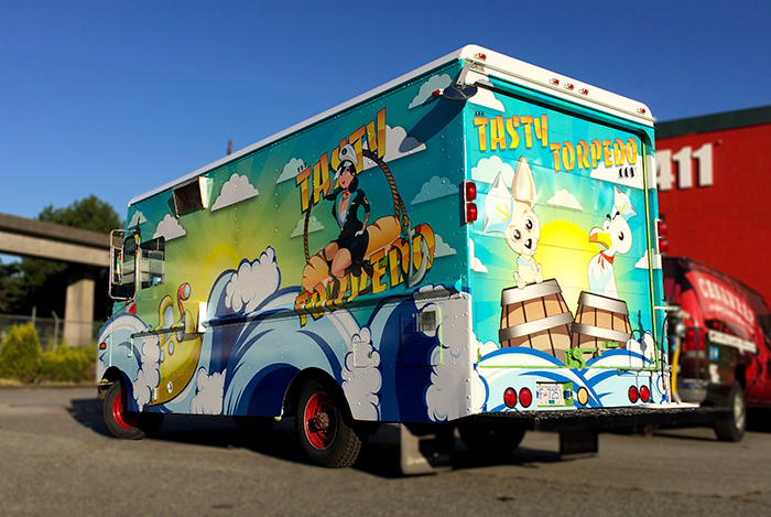 Food truck wraps image gallery canawrap for Food truck design software