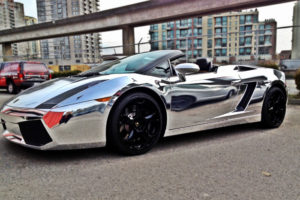 Chrome Wrapped Lamborghini Gallardo