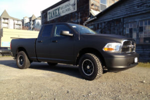 3M1080 Matte Black Dodge Ram Pick Up Wrap
