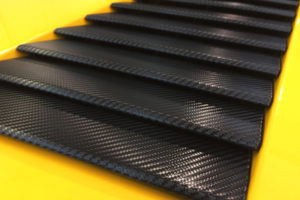 carbon fiber wrapped lambo fins